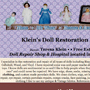 Kleins Doll Restoration & Repair - A Curtis Smeltzer Graphic Design Job!